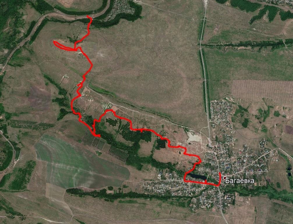 Маршрут в окрестностях Будановой горы