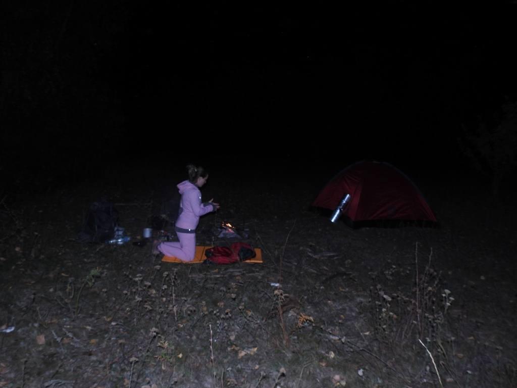 Ночью в походе
