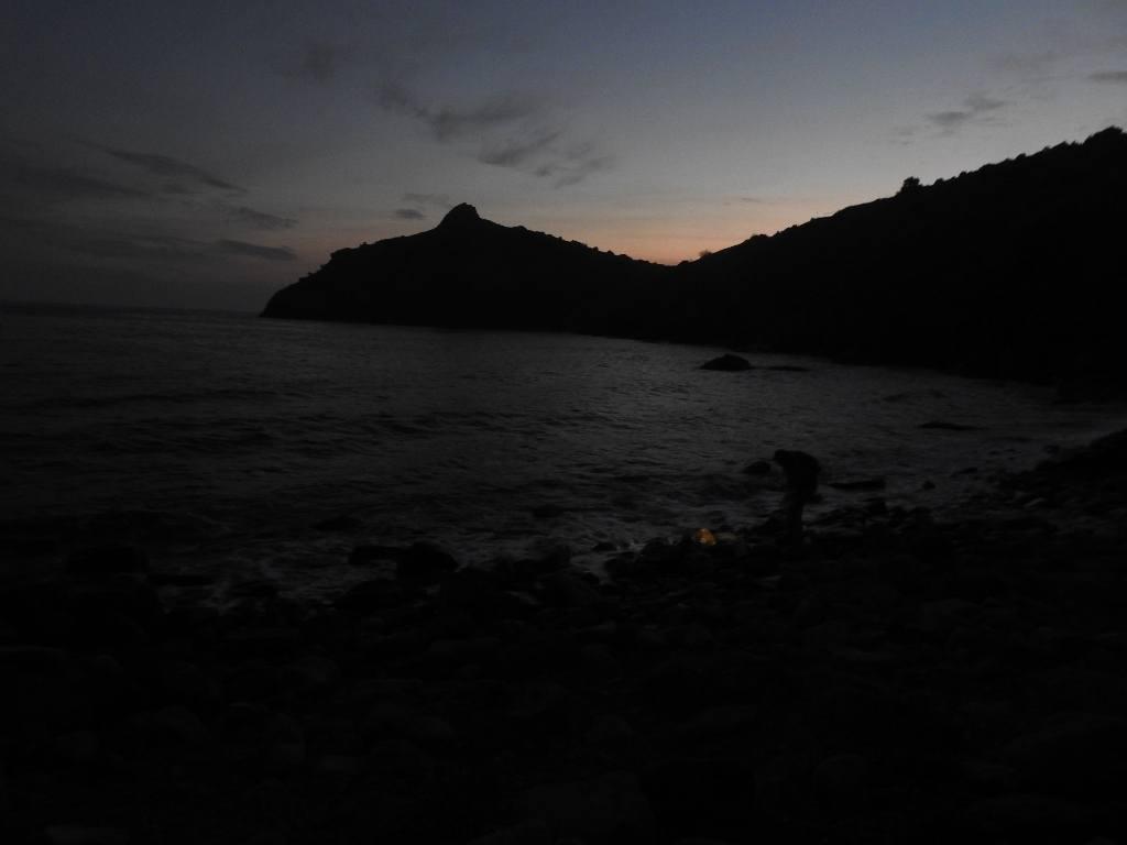 Поздний вечер на разбойничьим пляжу