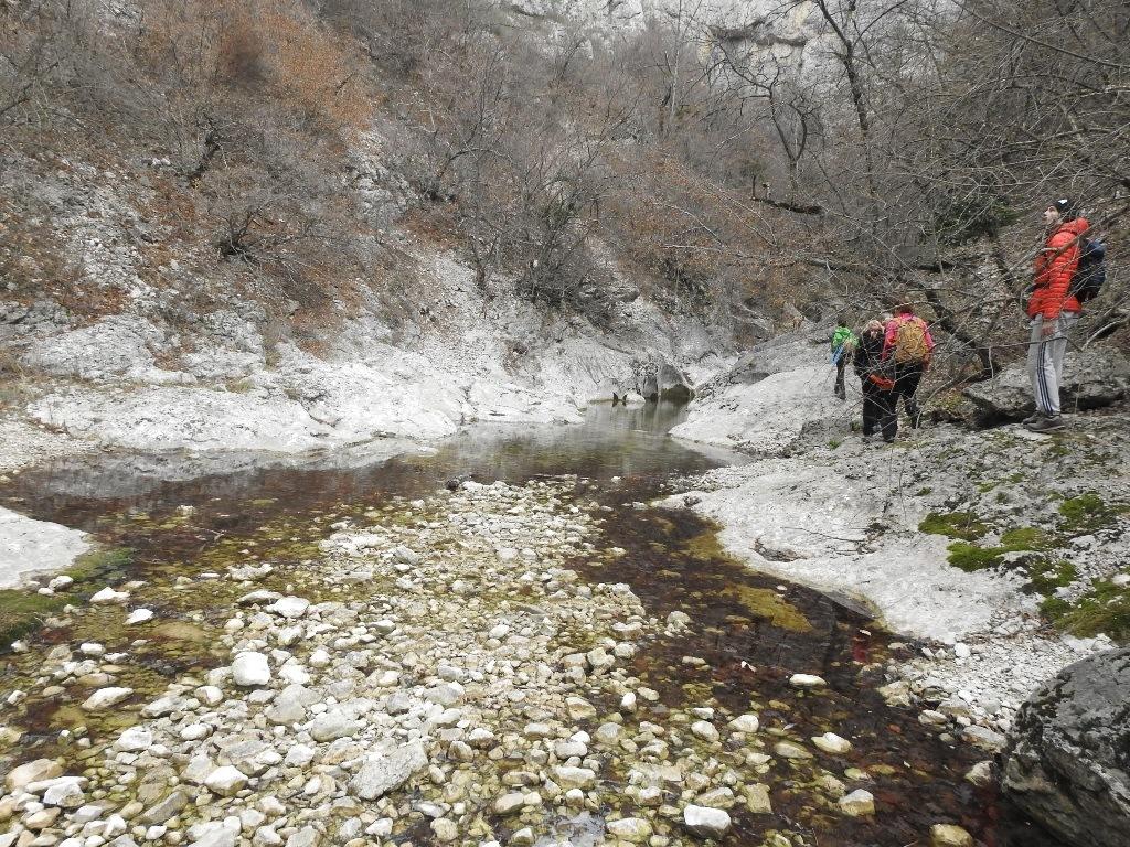 Ручей на дне большого Крымского каньона