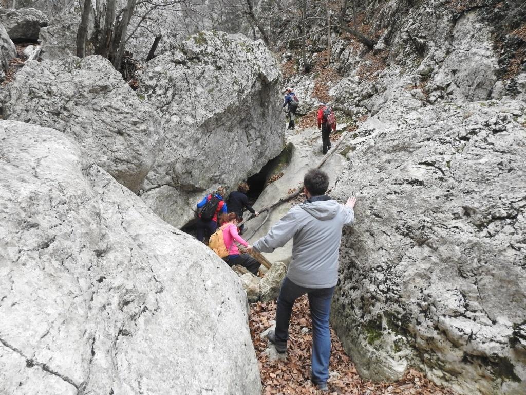 Место без троп большого каньона Крыма