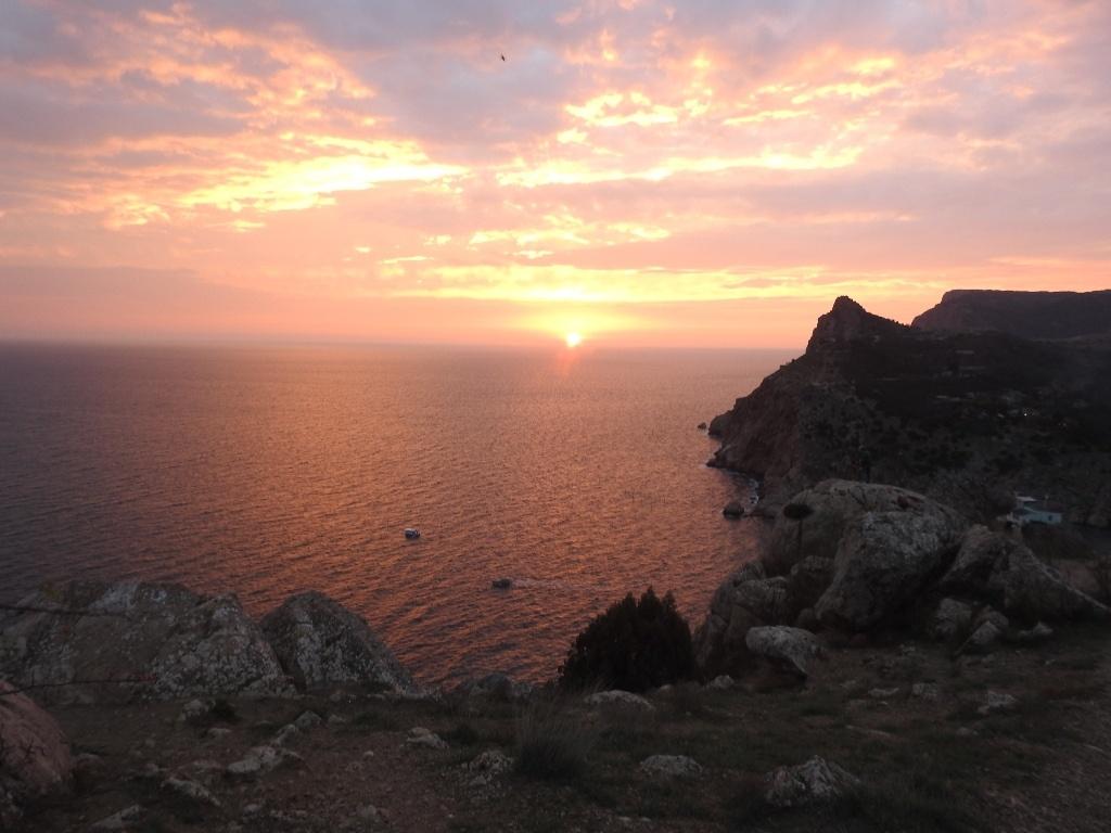 Закат с Крепостной горы в Балаклаве