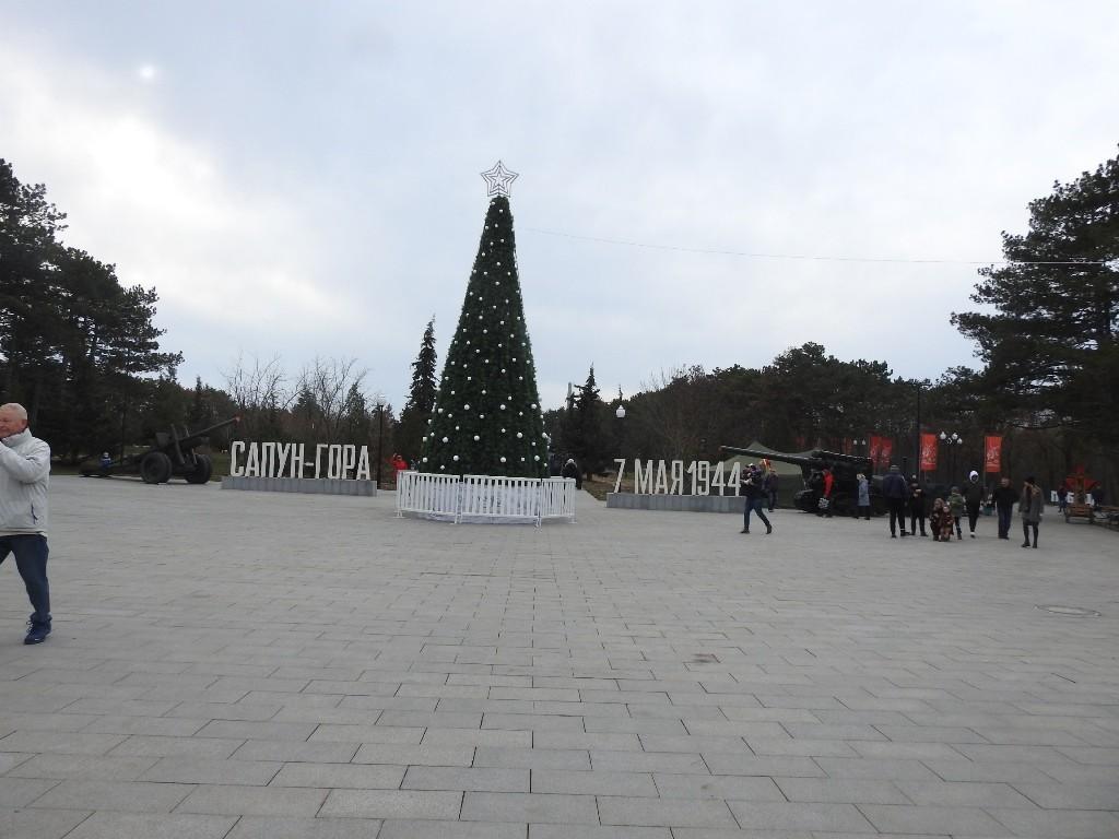 Новогодняя ёлка на Сапун горе