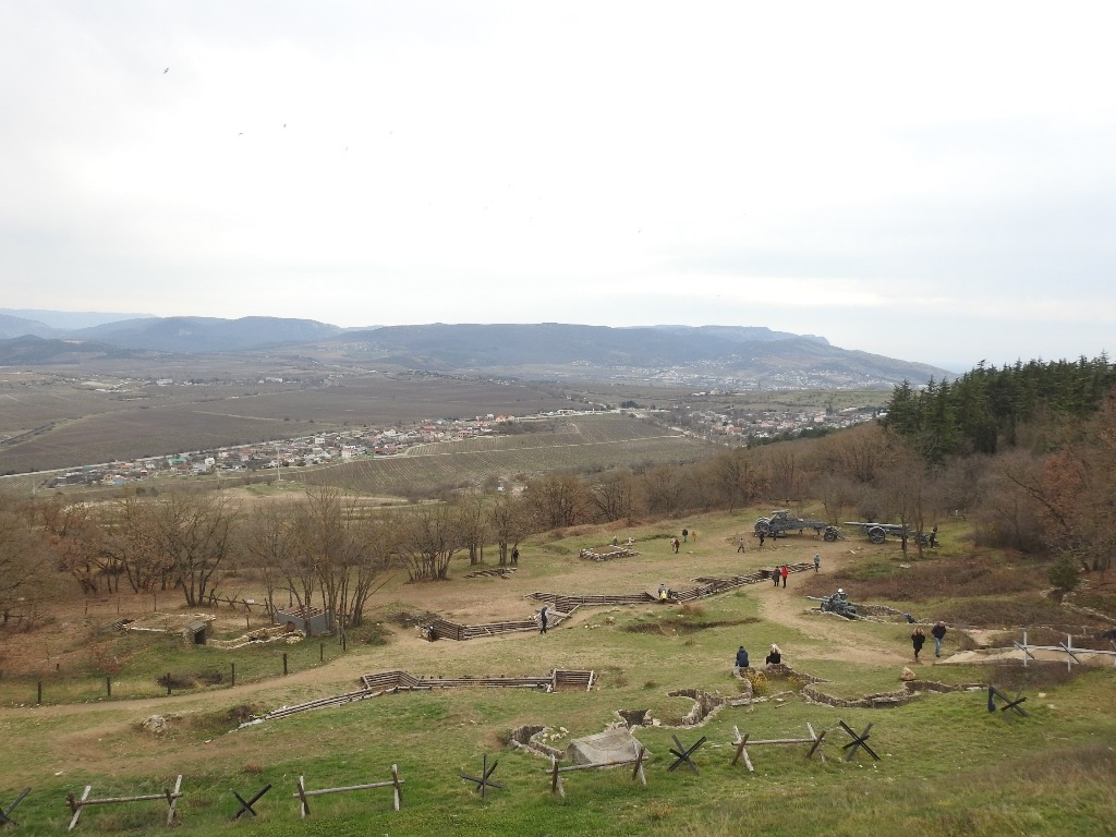 Вид с Сапун горы