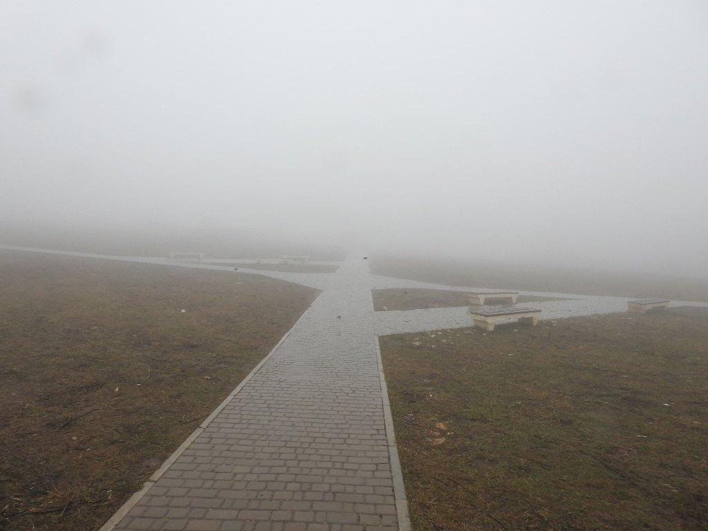 Сквер на Ай-Петри в тумане