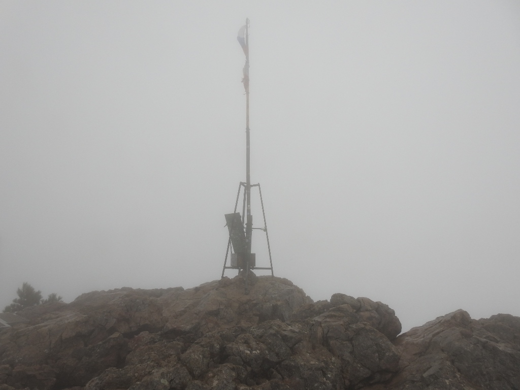 Флаг на вершине Ай-Петри