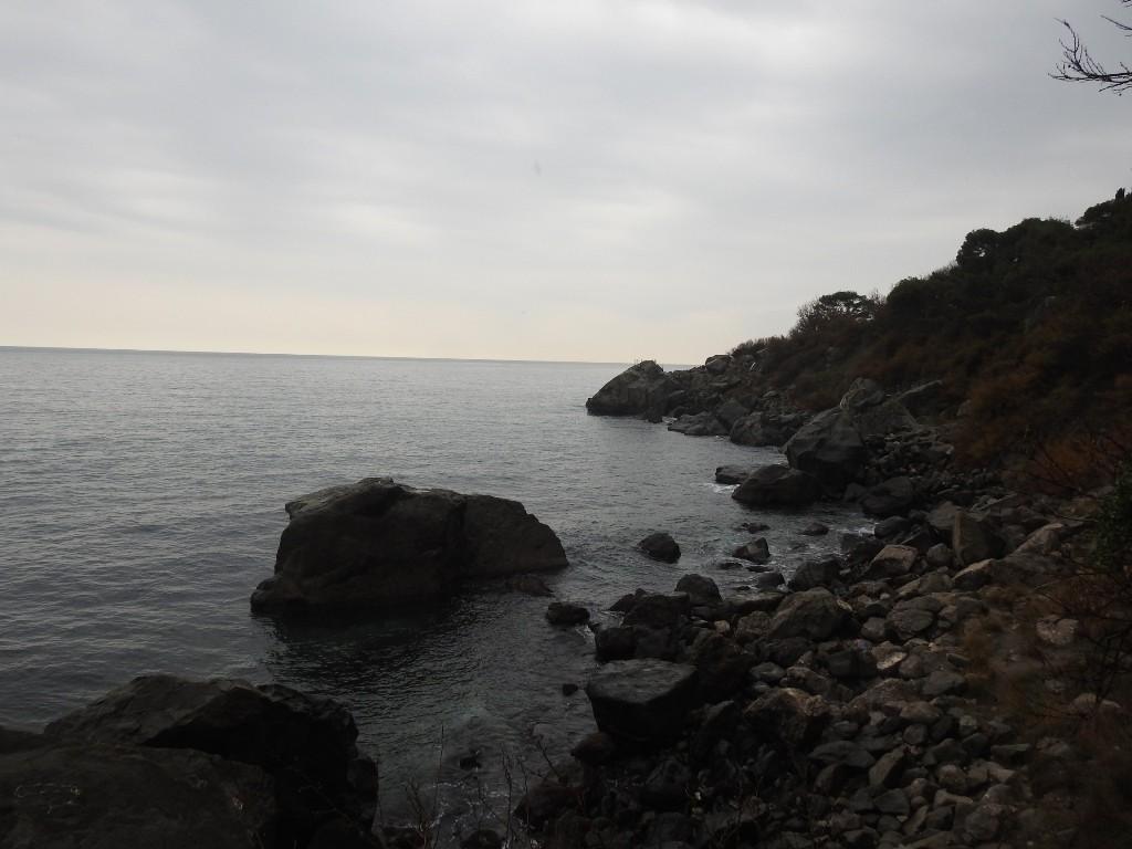 Диабазовые скалы в воде