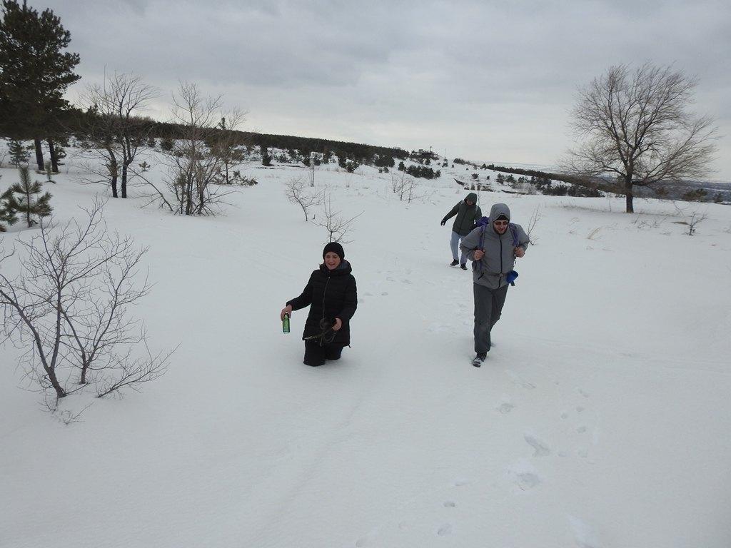 Пешком по снегу