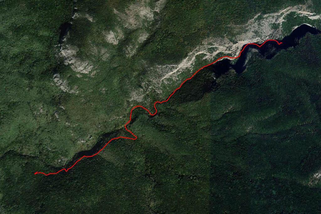 Карта пути по Большому каньону Крыма