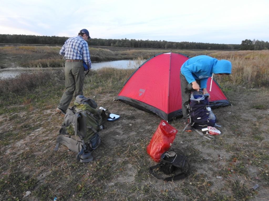 Сбор палатки