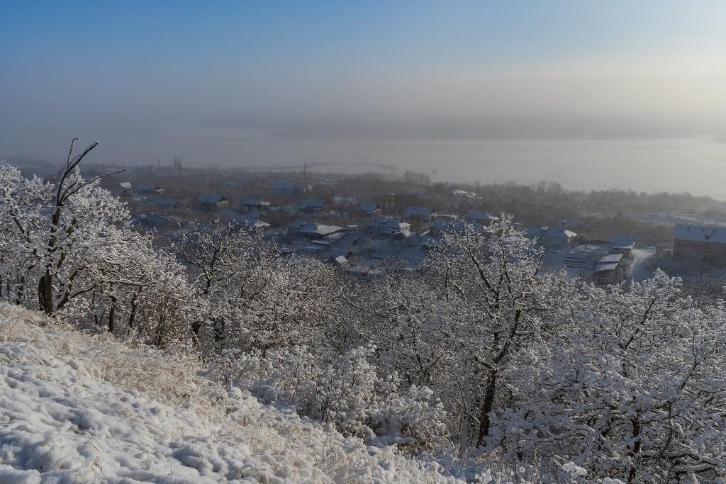 Дачи Вольска зимой