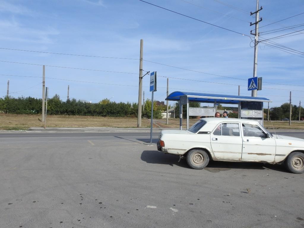 Конечная остановка трамвая 6 в Поливановке