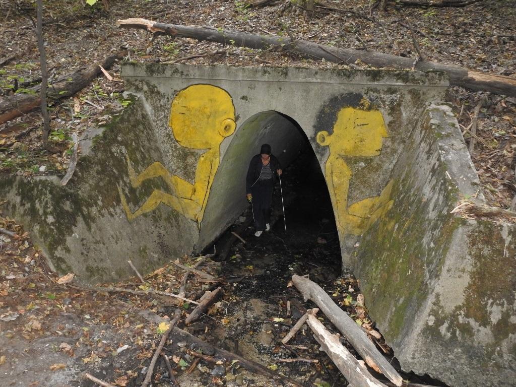 Граффити на выходе из тоннеля