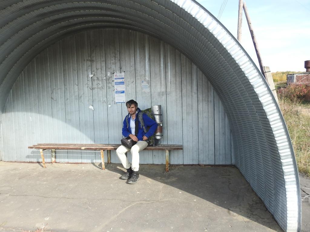 Сельская автобусная остановка