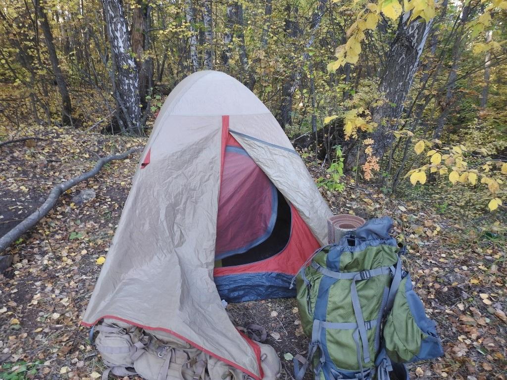 Открытая палатка