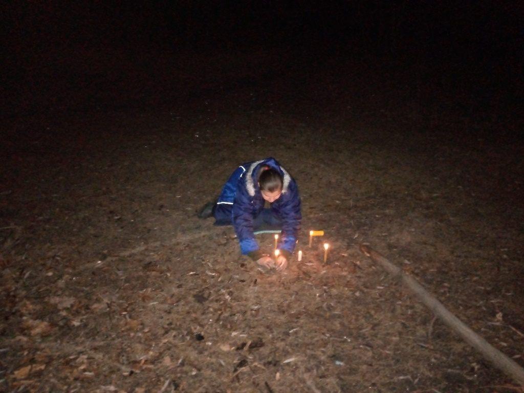 Свечи в лесу