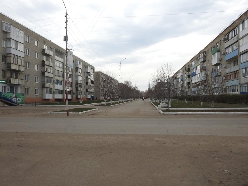 Пешеходная улица в Степном