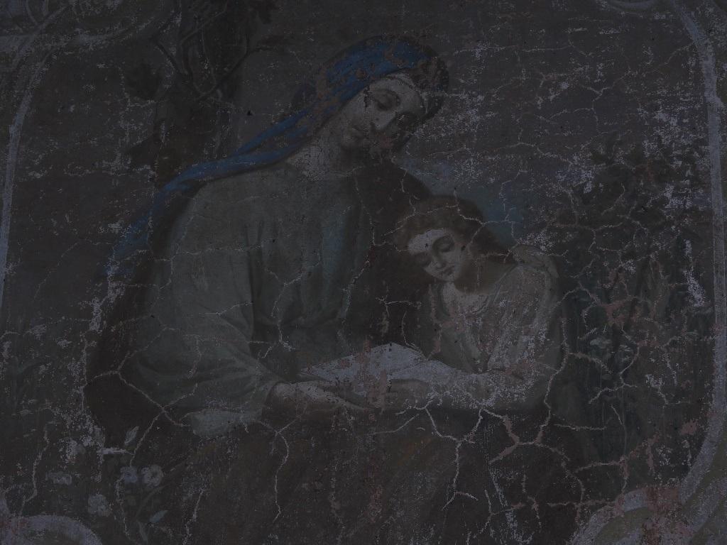 Фреска Богоматери