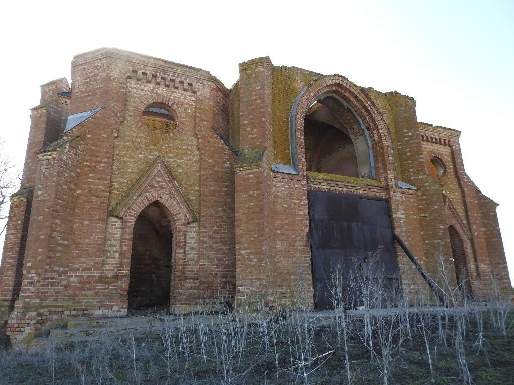 Заброшенная католическая церковь, Песчаное