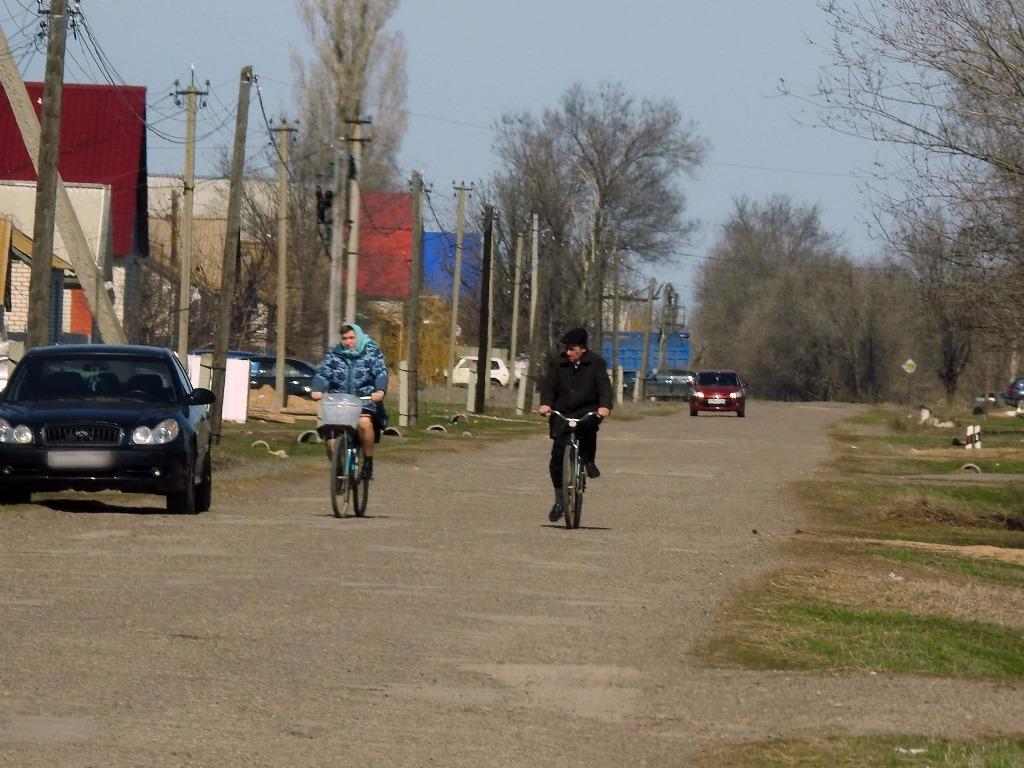 Селяне на велосипедах