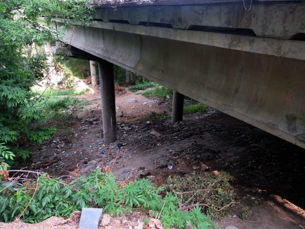 Глебучев овраг под мостом