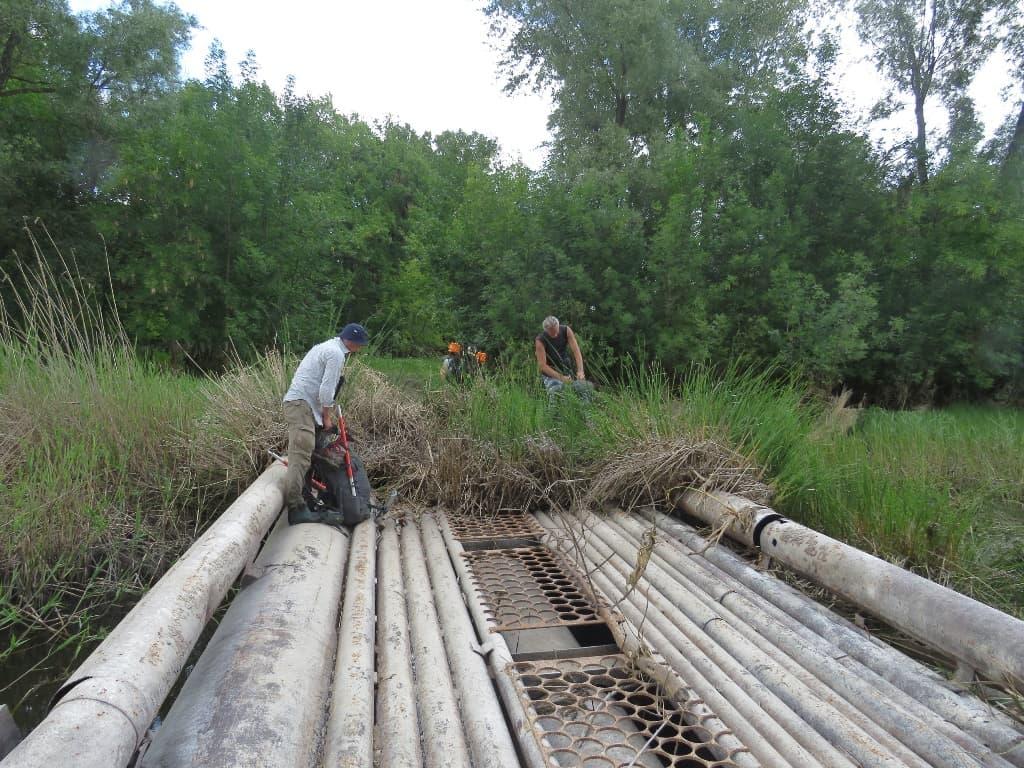 Караманская пойма трубный мост