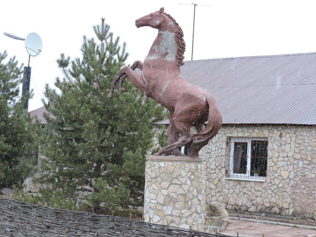 Прибрежный скульптура коня