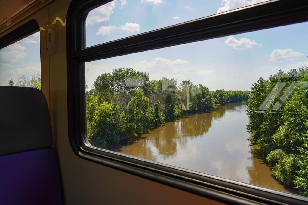 река Терешка с поезда