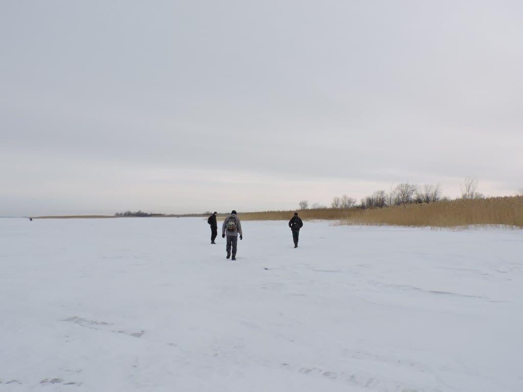 По льду Волги