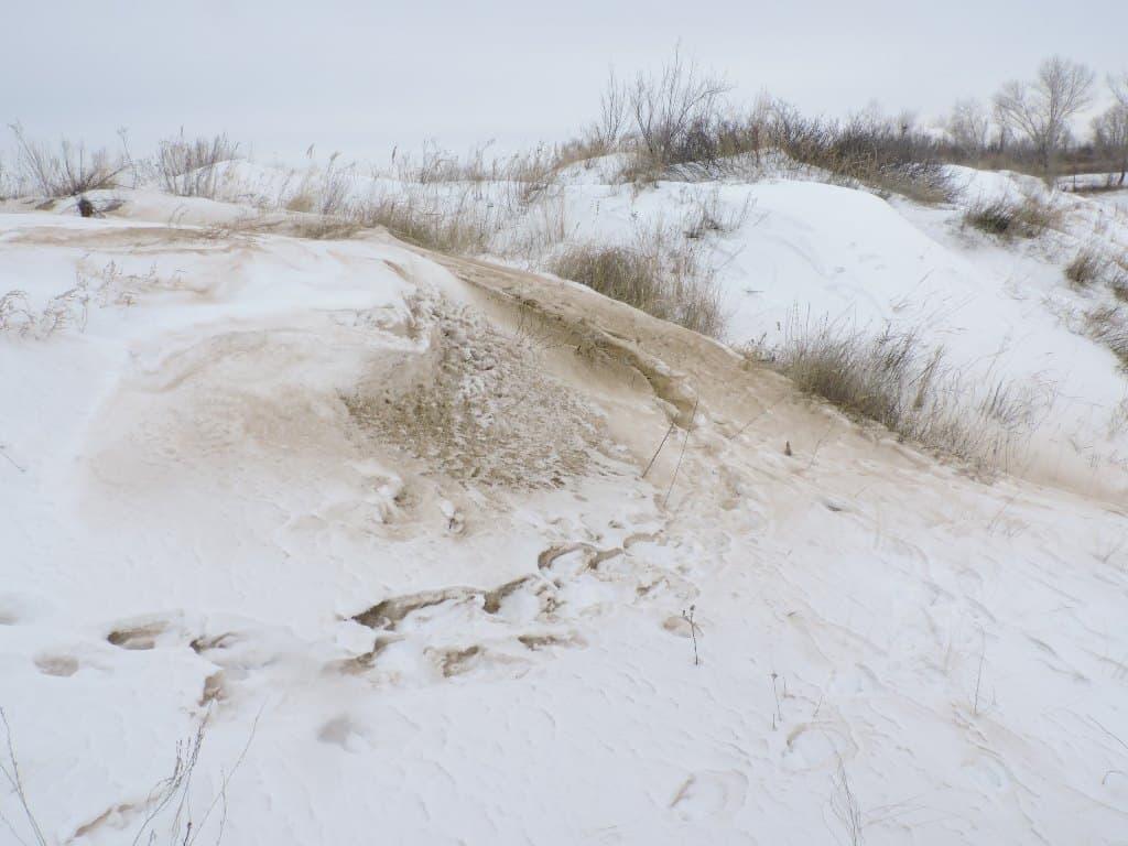 Волжские острова зимой